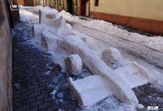 El monoplaza de nieve. / Susin