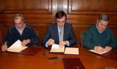 Castillo (izda.), Pardo y Manrique. / Dip.