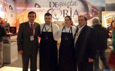 Pardo (dcha.), Benito, Lucas y Casado. / Dip
