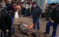 Matanza del cerdo en San Leonardo