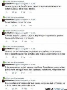 Tweets de Lolita denunciando lo sucedido