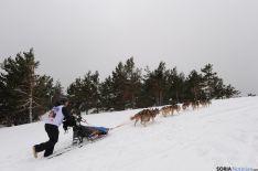 La abundante nieve dificultó el avance de los trineos
