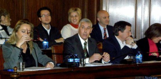 Bancada del grupo popular en el pleno del Ayuntamiento de Soria