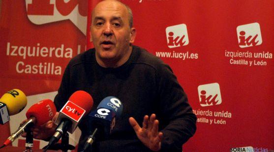 El coordinador de IU en Soria, Enrique García, este miércoles. / SN