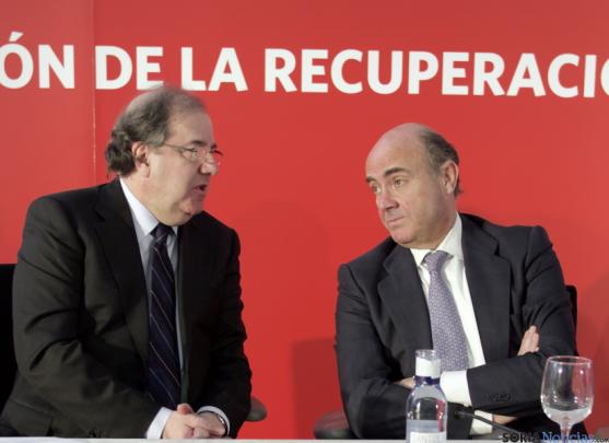 Herrera y de Guindos hoy en Burgos.