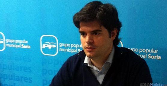 El concejal popular Javier Sanz.