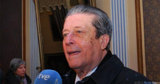 Federico Mayor Zaragoza, este sábado en el casino. / SN