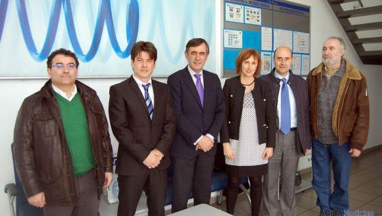 Visita institucional de la Diputación a Mubea, en Ágreda. / Dip.