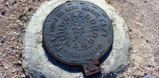 Uno de los registros de pluviales construidos para la antigua CMA. / SN