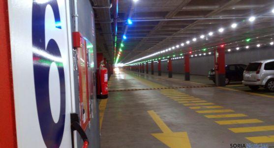 Imagen del aparcamiento subterráneo en el Espolón. / SN