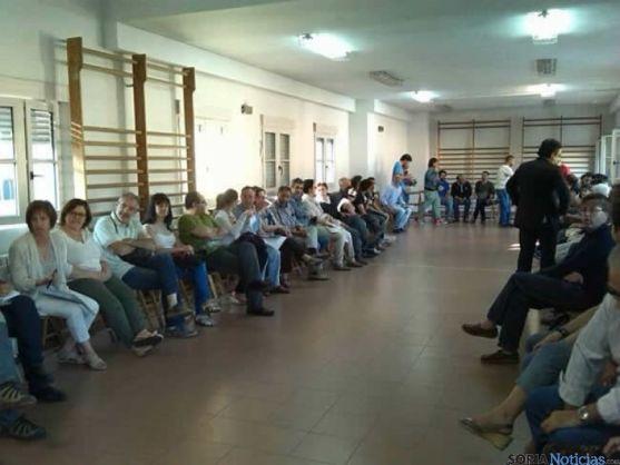 Reunión de los simpatizantes de Podemos en Soria.