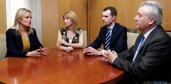 Marimar Blanco, Sonia Ramos, José M. Herrero y Juan J. Aliste. / Jta.