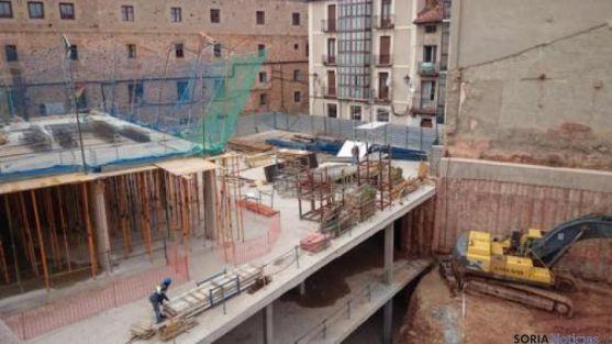 Obras en el mercado de abastos de Soria