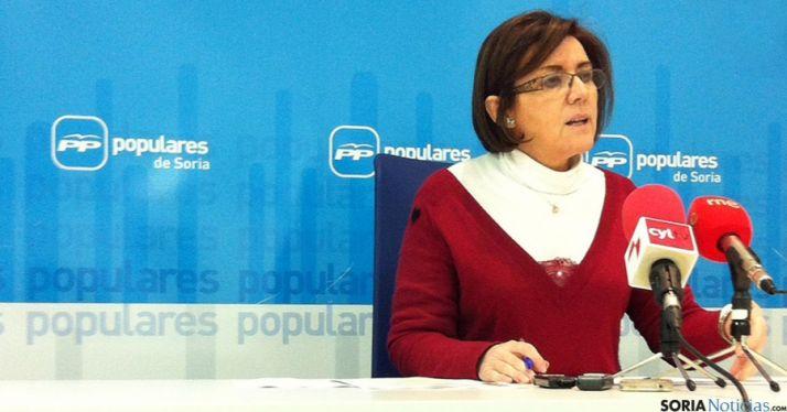 La presidenta de los populares sorianos, Marimar Angulo.