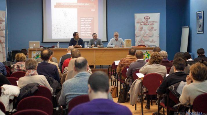 Imagen de las ponencias llevadas a cabo por Escuelas Católicas.