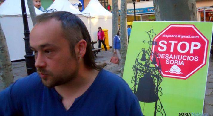 Iván Aparicio, de STOP Desahucios. / SN