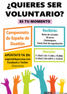 cartel de voluntarios