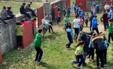 Los estudiantes, en la jornada en Valonsadero.