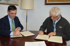 Pardo con el alcalde de Berlanga