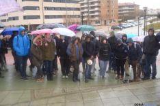 Concentración de estudiantes en Soria