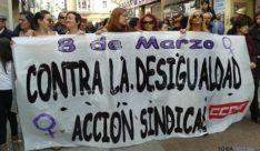 Manifestación en el Día de la Mujer trabajadora