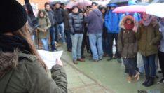 Concentración de estudiantes en el Campus de Soria