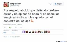 Los jugadores del Numancia en Twitter.