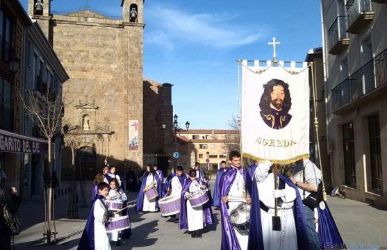 Una de las bellas estampas, este sábado, previas a la Semana Santa agredeña. / SN
