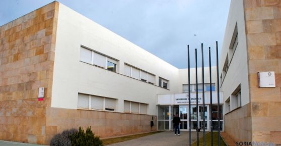 Imagen de la entradas al Campus Duques de Soria. / SN