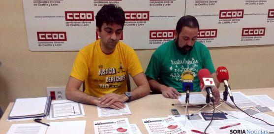 Javier Sanz (izda.) y Javier Moreno.