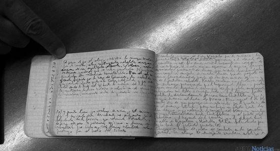 Manuscrito de Gaya Nuño en la Guerra Civil recuperado ahora. / Ayto.