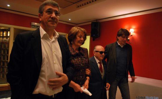 López, (izda.), Romero, Cabrejas y Mínguez este viernes en Soria. / SN