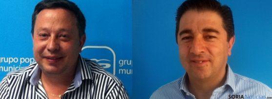 Adolfo Saiz, (izda.) y Jesús Peregrina, primeros de lista a Ayuntamiento y Diputación. / SN