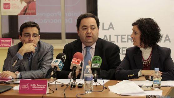 Óscar Sánchez (izda.), Rafael Delgado y Águeda Arranz.