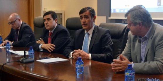 Domingo Barca (izda.), Carlos Martínez Izquierdo, Anotnio Pardo y Luc Thys. / SN