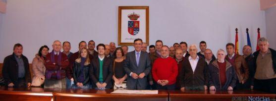 Pardo junto a los alcaldes del Campo de Gómara