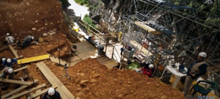 Excavaciones en Atapuerca, cuna del museo. / Jta.
