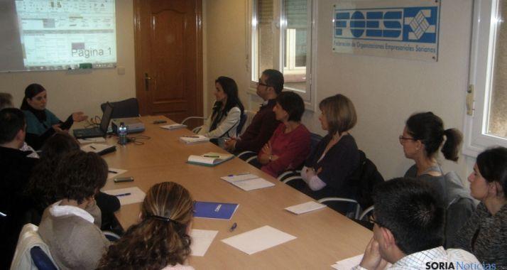 Los participantes en el taller.