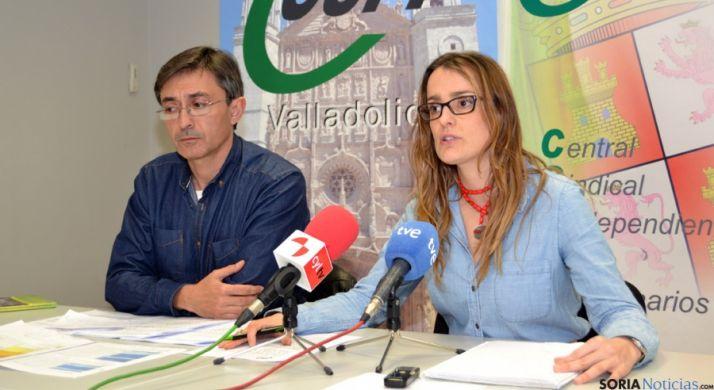 Javier Ampudia e Isabel Madruga, de CSI-F. / SN