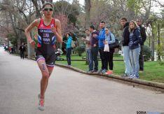 Claudia Luna resolvió la carrera en el último tramo con un espectacular tirón que dejaba muy atrás a sus rivales. / SN