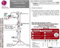 Mapa con los accesos a la Laguna. / Jta.