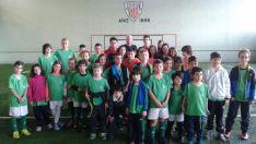 Visita Escuela de Fútbol Navaleno a Bilbao