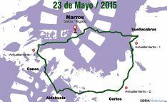 Mapa del recorrido. / AAN