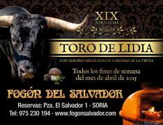 Cartel Jornadas Toro de Lidia en El Fogón