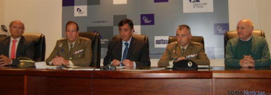 Presentación actos militares en Diputación