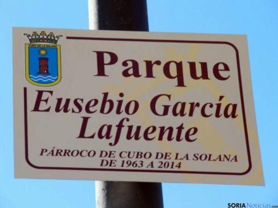 Homenaje a Eusebio García Lafuente en Cubo de la Solana