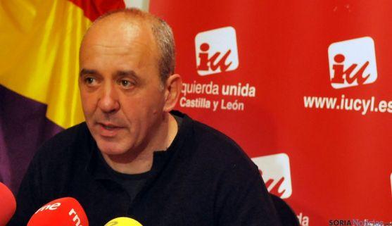 Enrique García, coordinador de IU en Soria. / SN