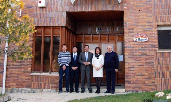 Visita institucional a la factoría de San Pedro Manrique. / Dip.