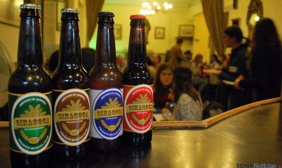 Las cuatro variedades de la cerveza de Ágreda. / SN