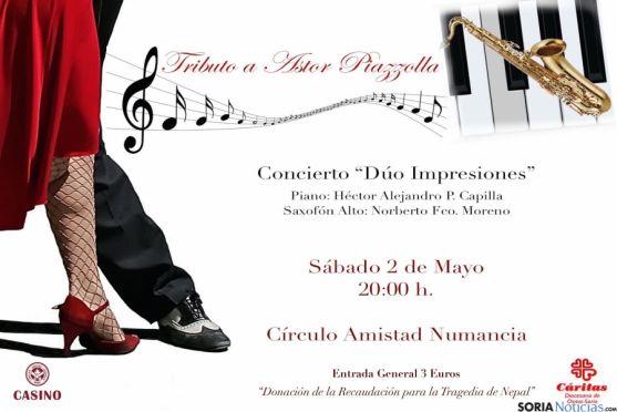 El concierto está amparado por Cáritas.